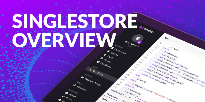 Getting Started with SingleStore Managed Service